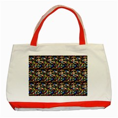 Abstract Pattern Design Artwork Classic Tote Bag (red)