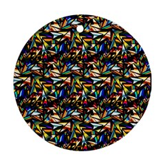 Abstract Pattern Design Artwork Round Ornament (two Sides)