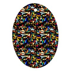 Abstract Pattern Design Artwork Oval Ornament (two Sides)