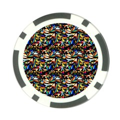 Abstract Pattern Design Artwork Poker Chip Card Guard (10 Pack)