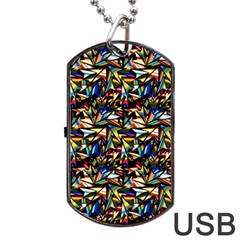 Abstract Pattern Design Artwork Dog Tag Usb Flash (one Side)