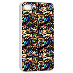 Abstract Pattern Design Artwork Apple Iphone 4/4s Seamless Case (white)