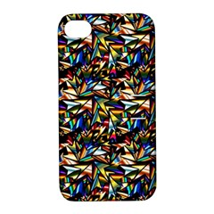 Abstract Pattern Design Artwork Apple Iphone 4/4s Hardshell Case With Stand
