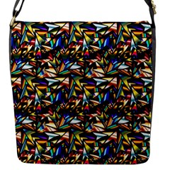 Abstract Pattern Design Artwork Flap Messenger Bag (s)