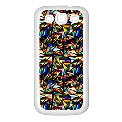 Abstract Pattern Design Artwork Samsung Galaxy S3 Back Case (White)