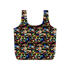 Abstract Pattern Design Artwork Full Print Recycle Bags (s)