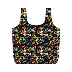 Abstract Pattern Design Artwork Full Print Recycle Bags (m)