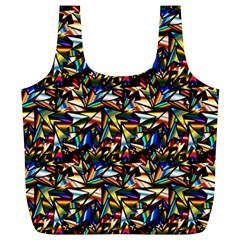 Abstract Pattern Design Artwork Full Print Recycle Bags (l)