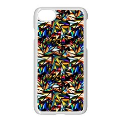 Abstract Pattern Design Artwork Apple Iphone 7 Seamless Case (white)