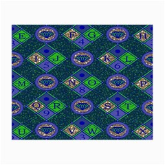 African Fabric Number Alphabeth Diamond Small Glasses Cloth (2-Side)