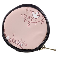 Bird City Sing Pink Notes Music Mini Makeup Bags