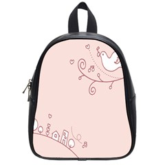 Bird City Sing Pink Notes Music School Bags (Small)