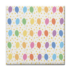 Balloon Star Color Orange Pink Red Yelllow Blue Tile Coasters