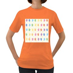 Balloon Star Color Orange Pink Red Yelllow Blue Women s Dark T Shirt