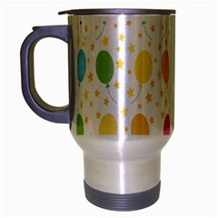 Balloon Star Color Orange Pink Red Yelllow Blue Travel Mug (silver Gray)