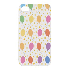 Balloon Star Color Orange Pink Red Yelllow Blue Apple iPhone 4/4S Hardshell Case