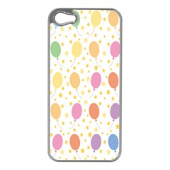 Balloon Star Color Orange Pink Red Yelllow Blue Apple Iphone 5 Case (silver)