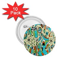 Animals Caterpillar Worm Owl Snake Leaf Flower Floral 1.75  Buttons (10 pack)