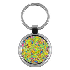 Animals Fish Green Pink Blue Green Yellow Water River Sea Key Chains (round)