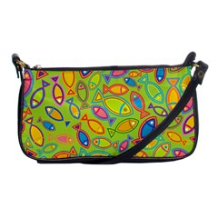 Animals Fish Green Pink Blue Green Yellow Water River Sea Shoulder Clutch Bags