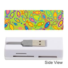 Animals Fish Green Pink Blue Green Yellow Water River Sea Memory Card Reader (Stick)
