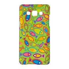 Animals Fish Green Pink Blue Green Yellow Water River Sea Samsung Galaxy A5 Hardshell Case