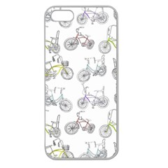 Bicycle Bike Sport Apple Seamless iPhone 5 Case (Clear)