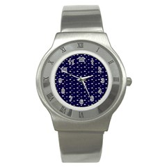 Blue Star Stainless Steel Watch