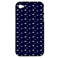 Blue Star Apple iPhone 4/4S Hardshell Case (PC+Silicone)