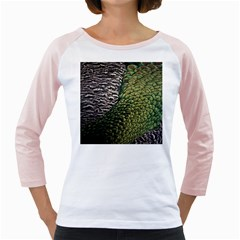 Bird Feathers Green Brown Girly Raglans