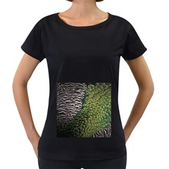 Bird Feathers Green Brown Women s Loose Fit T Shirt (black)