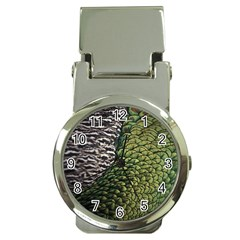 Bird Feathers Green Brown Money Clip Watches