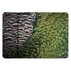 Bird Feathers Green Brown Samsung Galaxy Tab 8 9  P7300 Flip Case