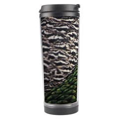 Bird Feathers Green Brown Travel Tumbler