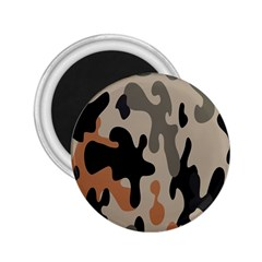 Camouflage Army Disguise Grey Orange Black 2.25  Magnets