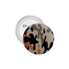 Camouflage Army Disguise Grey Orange Black 1.75  Buttons
