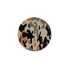 Camouflage Army Disguise Grey Orange Black Golf Ball Marker (4 Pack)