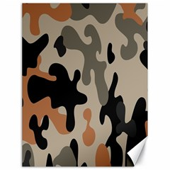 Camouflage Army Disguise Grey Orange Black Canvas 18  x 24
