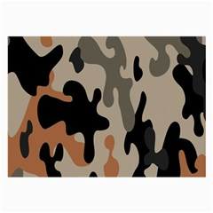 Camouflage Army Disguise Grey Orange Black Large Glasses Cloth (2-Side)