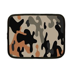 Camouflage Army Disguise Grey Orange Black Netbook Case (Small)
