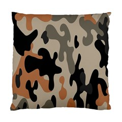 Camouflage Army Disguise Grey Orange Black Standard Cushion Case (One Side)