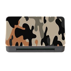 Camouflage Army Disguise Grey Orange Black Memory Card Reader with CF