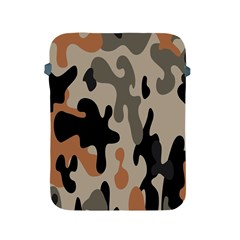 Camouflage Army Disguise Grey Orange Black Apple iPad 2/3/4 Protective Soft Cases