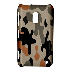 Camouflage Army Disguise Grey Orange Black Nokia Lumia 620