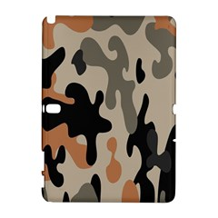 Camouflage Army Disguise Grey Orange Black Galaxy Note 1