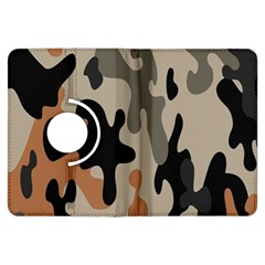 Camouflage Army Disguise Grey Orange Black Kindle Fire HDX Flip 360 Case