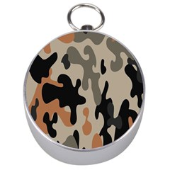 Camouflage Army Disguise Grey Orange Black Silver Compasses