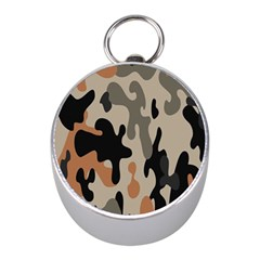 Camouflage Army Disguise Grey Orange Black Mini Silver Compasses