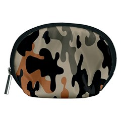 Camouflage Army Disguise Grey Orange Black Accessory Pouches (medium)