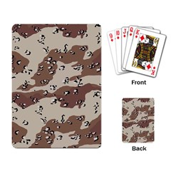 Camouflage Army Disguise Grey Brown Playing Card